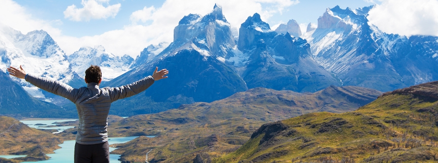 View of Cuernos del Paine