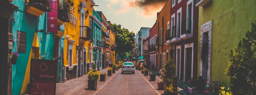 street in Puebla, Mexico